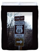 Rt 66 Il Turn Out Signage Duvet Cover