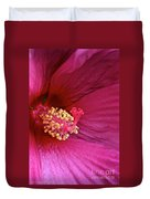 Ruby Hibiscus Duvet Cover
