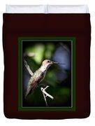 Ruby-throated Hummingbird - Just Beautiful Duvet Cover