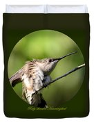 Ruby-throated Hummingbird  - The Stretch Duvet Cover