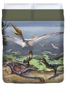 Rugops Primus Dinosaurs And Alanqa Duvet Cover
