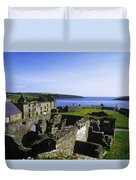 Ruins Of A Fort, Charles Fort, County Duvet Cover