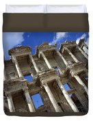 Ruins Of The Great Library At Ephesus Duvet Cover