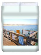 Rules Of The Pier  Duvet Cover