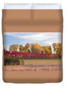 Rural Country Autumn Scenic View Duvet Cover
