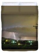 Rural Lightning Striking Duvet Cover