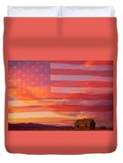 Rural Patriotic Little House On The Prairie Duvet Cover by James BO  Insogna