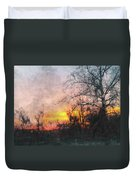 Rural Sunset  Art Duvet Cover