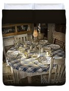 Rural Table Setting For Four No.3121 Duvet Cover