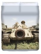 Russian T-54 And T-55 Main Battle Tanks Duvet Cover