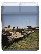 Russian T-62 Main Battle Tanks Rest Duvet Cover