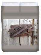 Rusted Latch Duvet Cover