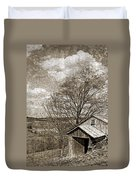Rustic Hillside Barn Duvet Cover