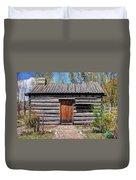 Rustic Pioneer Log Cabin - Salt Lake City Duvet Cover