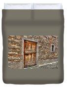 Rustic Stone House With Old Duvet Cover