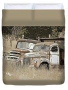 Rustic Trucks Duvet Cover