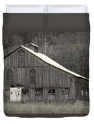 Rustic Weathered Mountainside Cupola Barn Duvet Cover