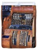 Rusty Cash Register Duvet Cover