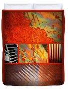 Rusty Metal Canvas Duvet Cover