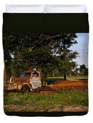 Rusty Truck And Tank Duvet Cover by Douglas Barnett