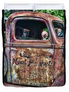 Rusty Truck Door Duvet Cover