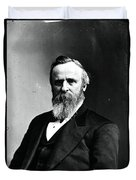 Rutherford B. Hayes, 19th American Duvet Cover
