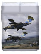 Saab 105 Jet Trainers Of The Swedish Duvet Cover