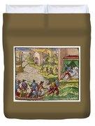 Sack Of Cartagena, C1544 Duvet Cover