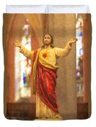 Sacred Heart Of Jesus Duvet Cover
