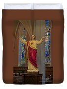 Sacred Heart Of Jesus Duvet Cover