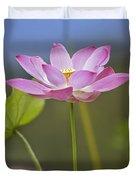 Sacred Lotus Nelumbo Nucifera Flower Duvet Cover
