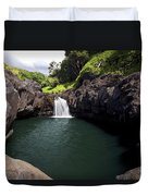 Sacred Pool And Waterfall Duvet Cover