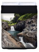 Sacred Pool Falls Duvet Cover