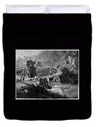 Sadler: Fishing, 1875 Duvet Cover