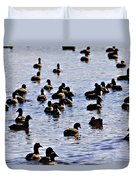 Safety In Numbers Duvet Cover by Douglas Barnard