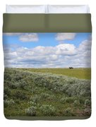 Sagebrush And Buffalo Duvet Cover