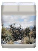 Sagebrush And Snow Duvet Cover