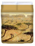 Sahelian Landscape Duvet Cover by Tilly Willis