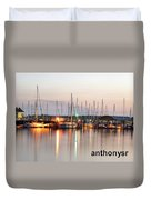 Sail Boat On The River Duvet Cover