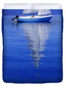 Sailboat On Water Duvet Cover