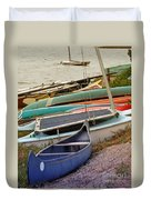 Sailboats Duvet Cover by Methune Hively