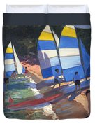 Sailboats South Of France Duvet Cover
