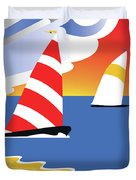 Sailing Before The Wind Duvet Cover