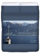 Sailing Boat On A Lake Duvet Cover