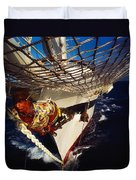 Sailing, Figurehead On The Prow Of A Duvet Cover