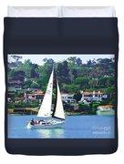 Sailing Home Duvet Cover