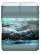 Sailing Over The Sea Duvet Cover