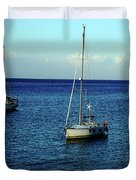 Sailing The Blue Waters Of Greece Duvet Cover
