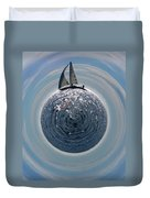 Sailing The World Duvet Cover