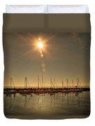 Sailing Under The Sun White Rock Bc Duvet Cover